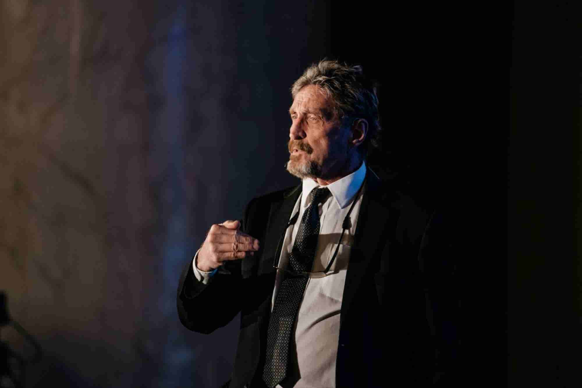 John McAfee Says Blockchain Will Upend Business as We Know It in 5 Yea...
