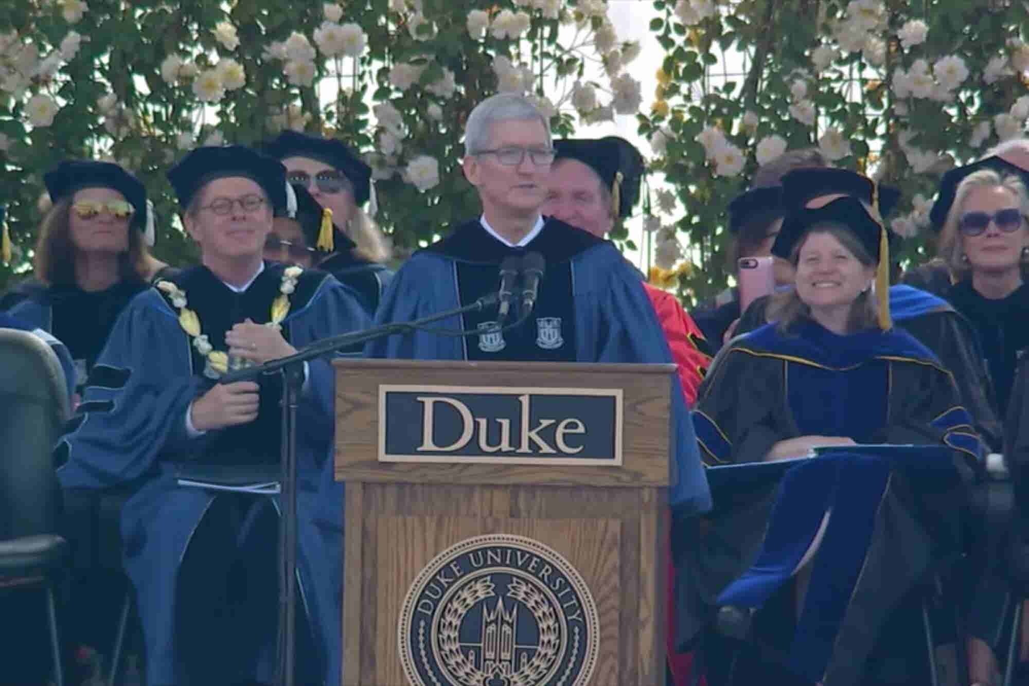 Get Inspired By Tim Cook's 2018 Duke University Commencement Speech