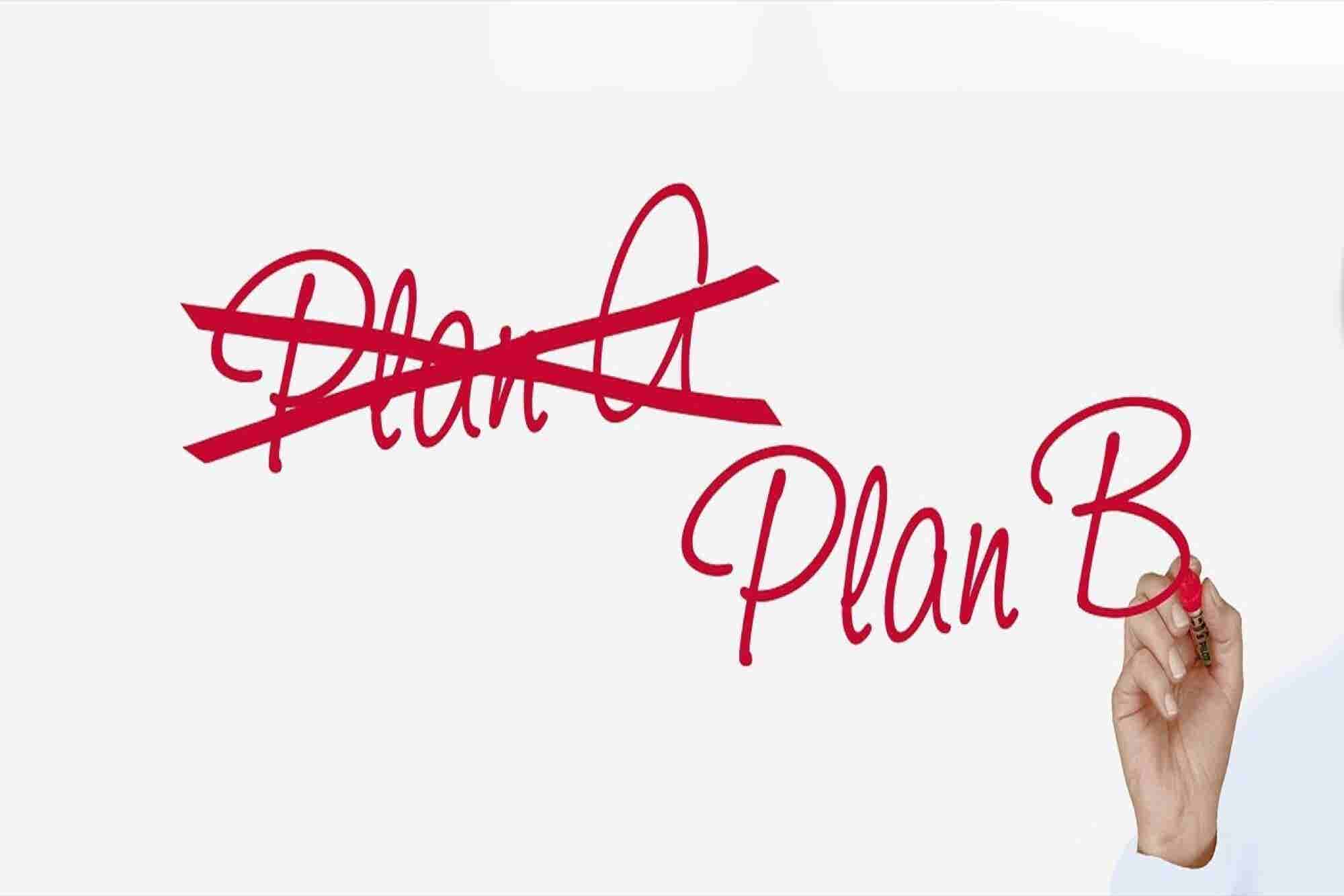 Why Entrepreneurs Always Need to Have a Plan B