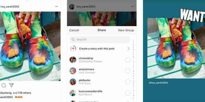 Instagram ahora te permite compartir publicaciones en historias