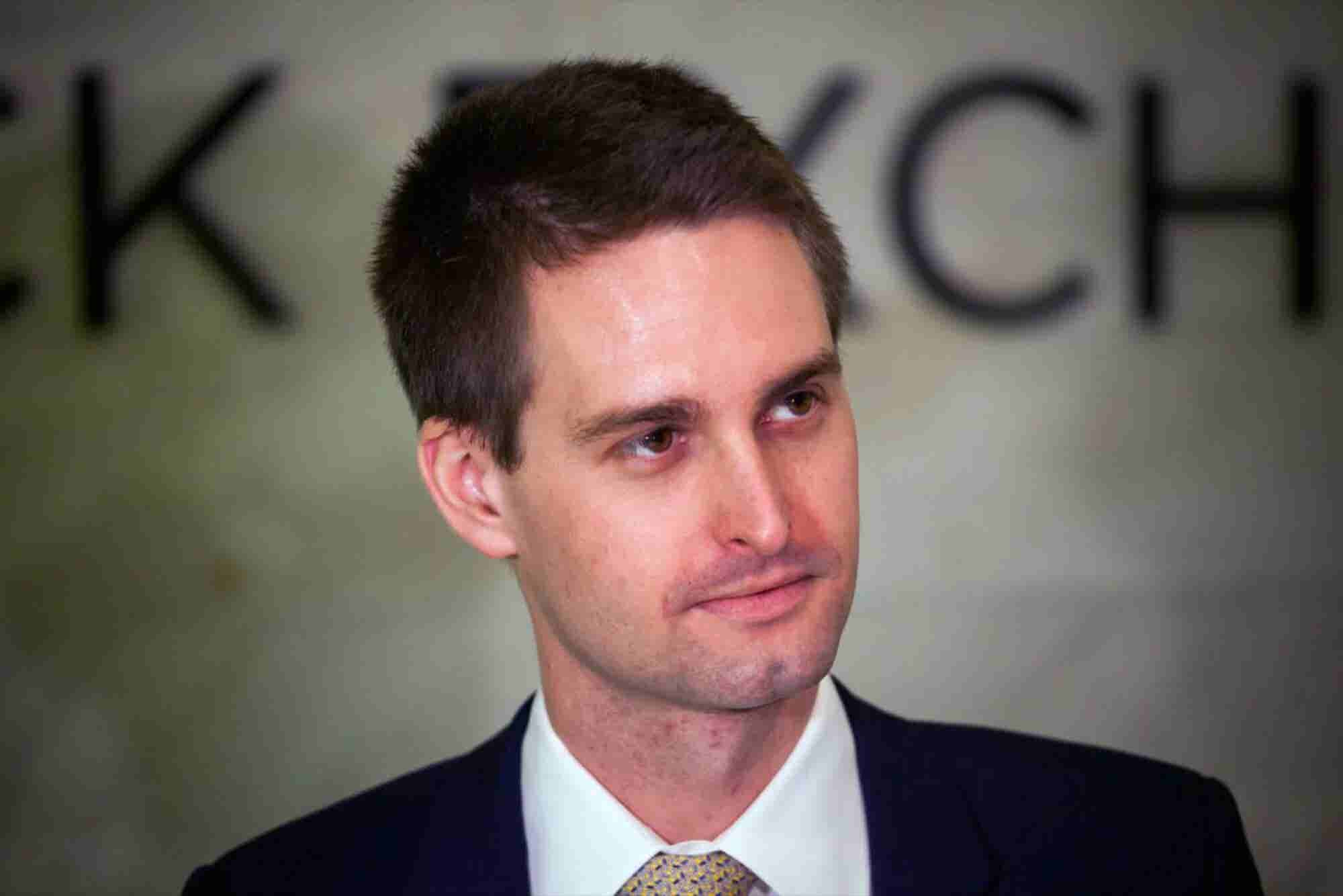 Snapchat CEO Throws Shade at Facebook's Poor Data Practices