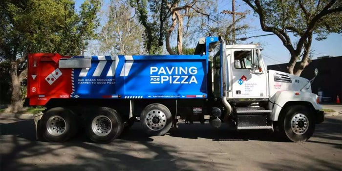 Just Order a Pizza If America's Crumbling Infrastructure Worries You -- Domino's Is on It