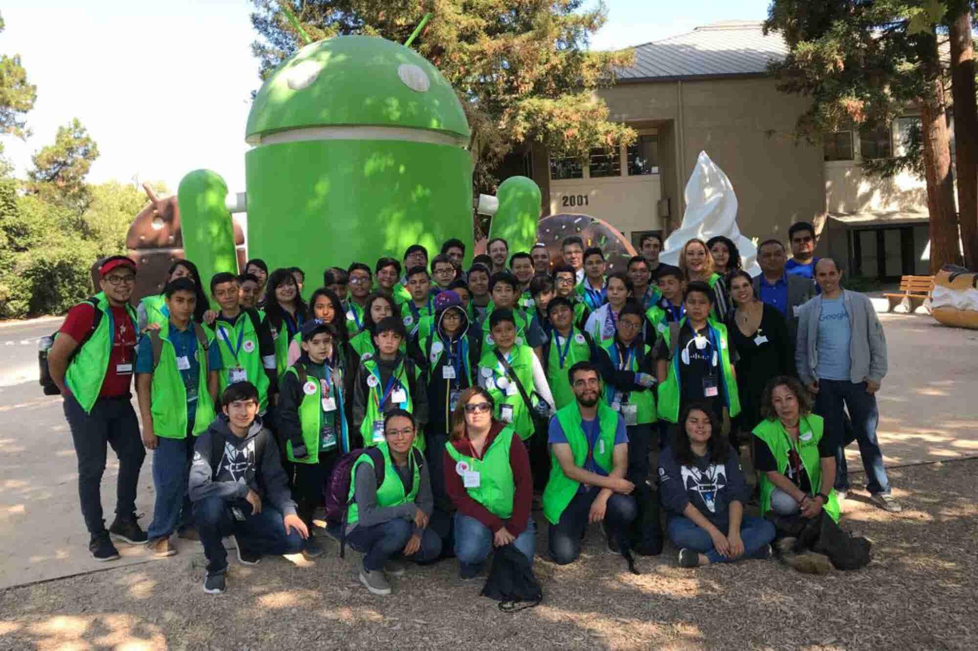 Estos niños viajaron a Silicon Valley para aprender de robótica