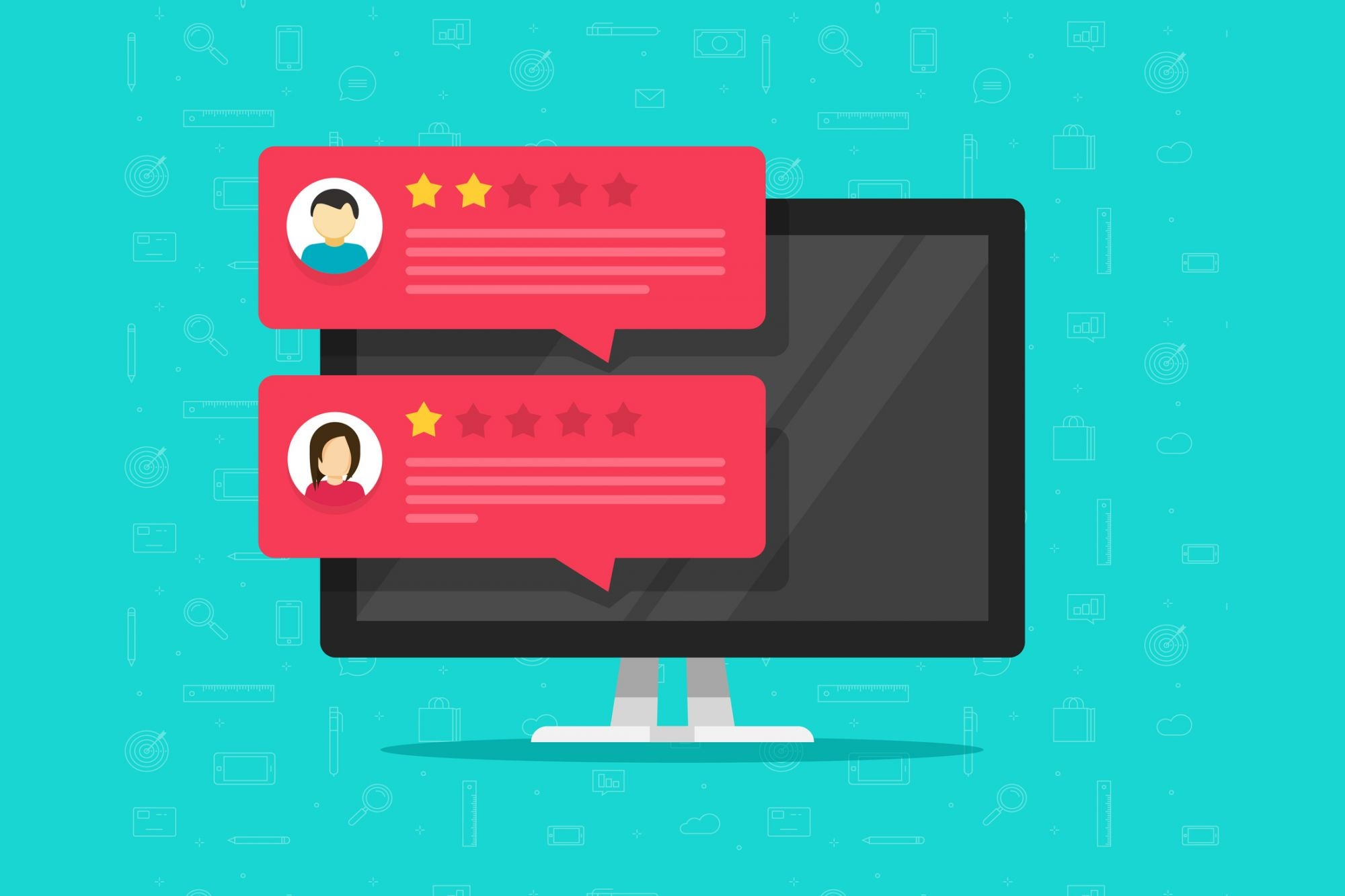 How to Deal With Fake Negative Reviews (Infographic)