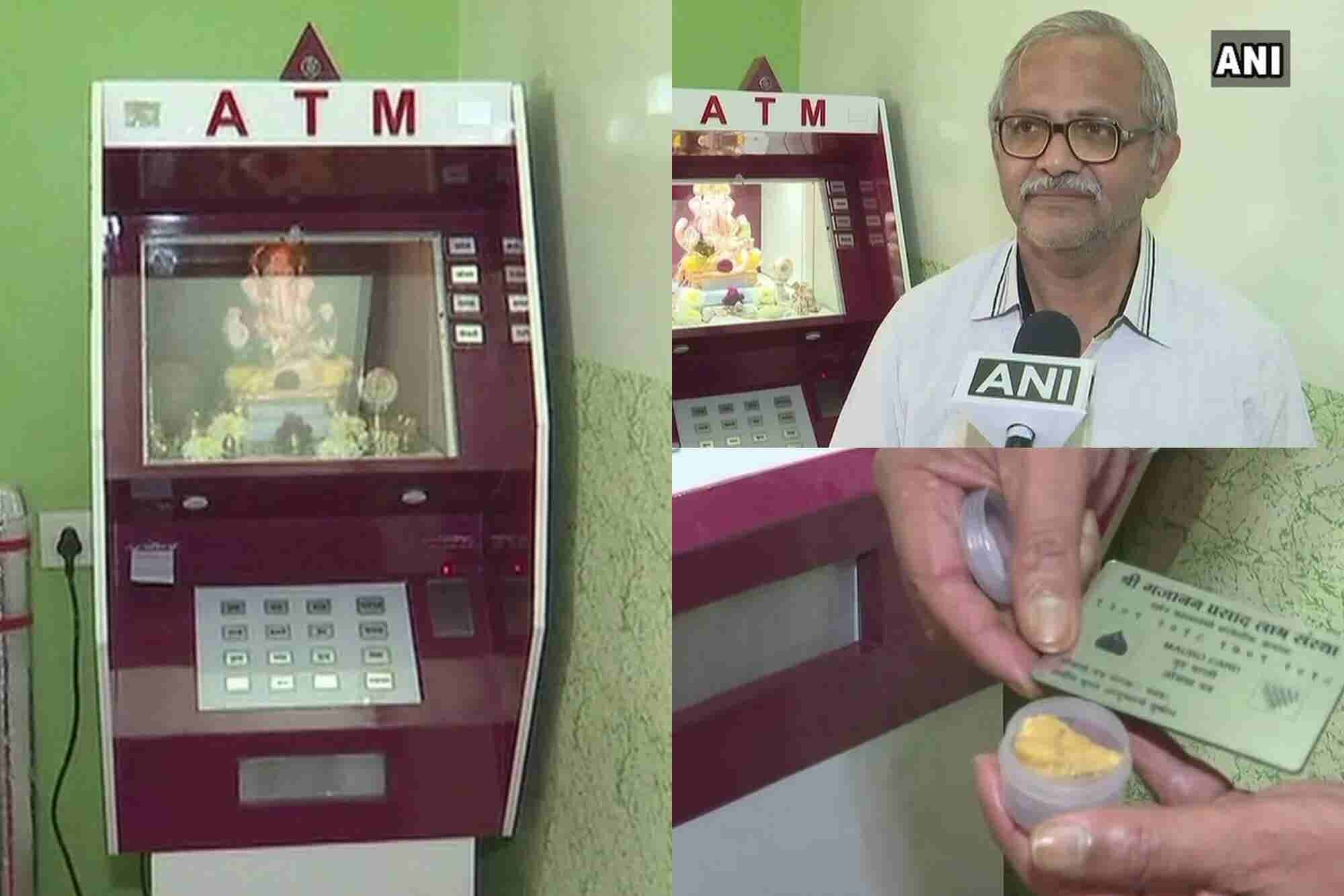 An ATM Machine That Pushes out 'Laddoos' is Possible Only in India