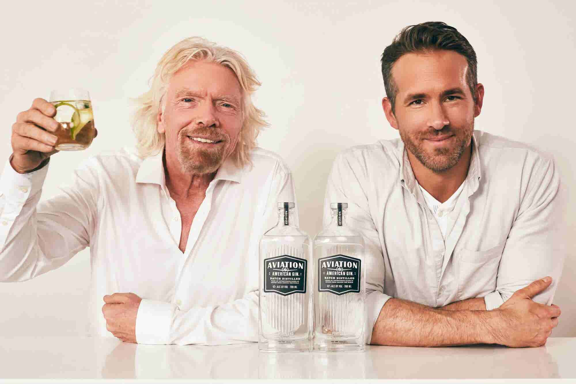 Richard Branson Skewers Ryan Reynolds's Business Knowledge as Virgin Atlantic and Aviation Gin Announce Partnership