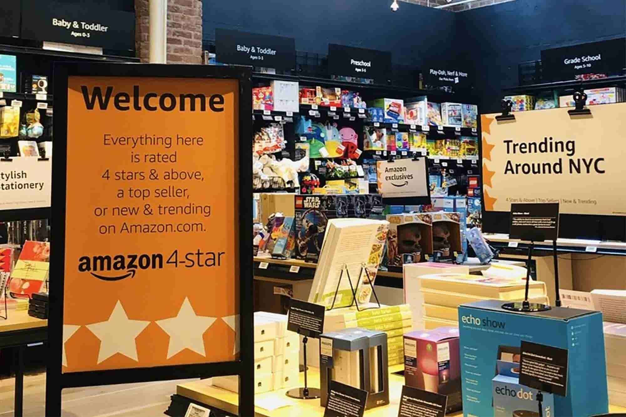 Amazon Opens 4-Star Store in New York City