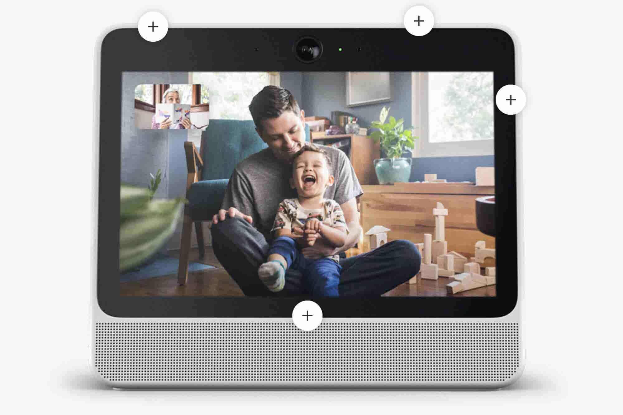 Facebook lanza dispositivo para videollamadas con inteligencia artificial y conectado con Amazon