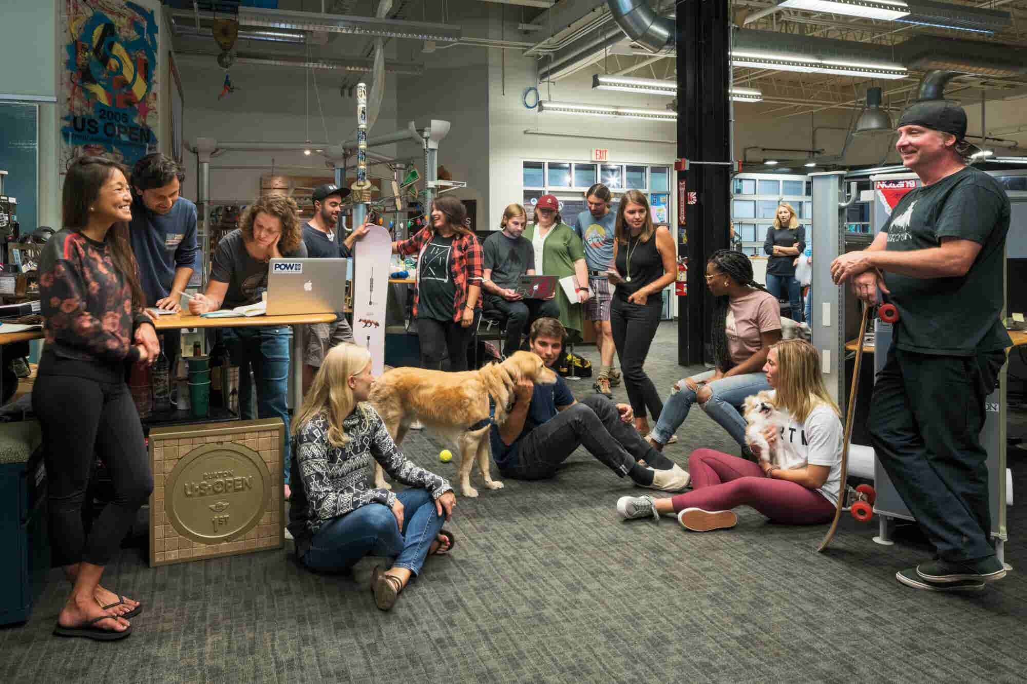 Snowboard Giant Burton's Headquarters Are Big on Dogs, Gardening and S...