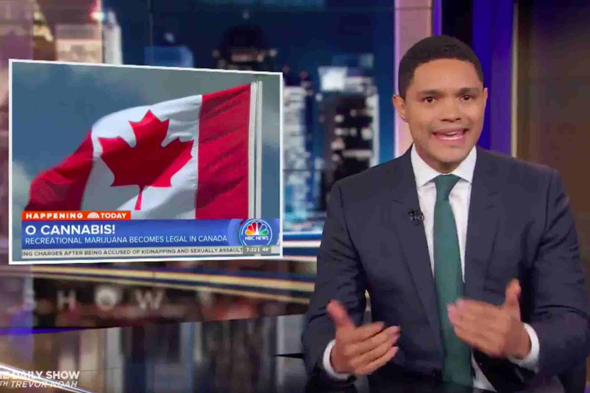Trevor Noah's Take on Canadian Legalization? 'This Story Pisses Me Off'