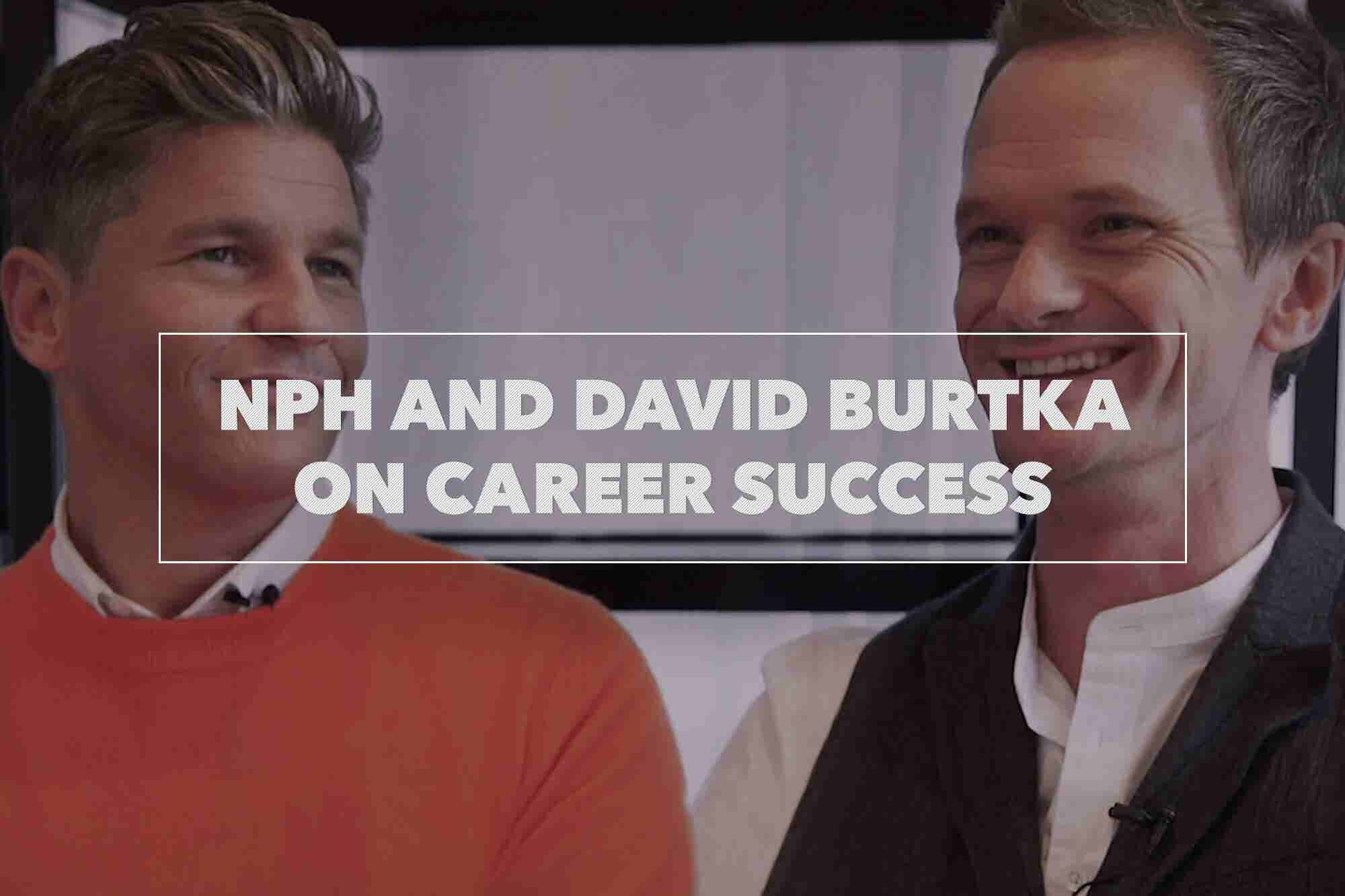 Neil Patrick Harris and David Burtka Reveal Top Tips for Career Success (Video)