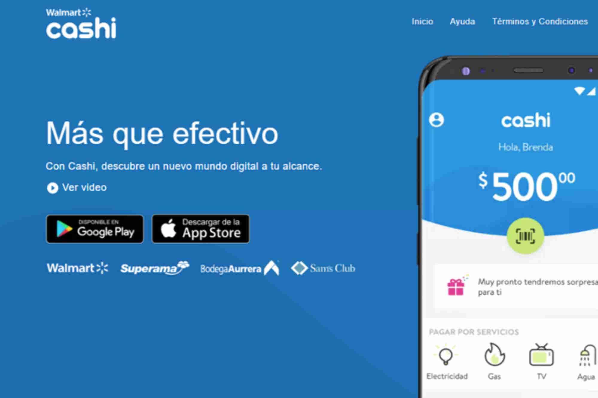 """""""Cashi"""" es la nueva app de Walmart que te permite pagar tus servicios,..."""