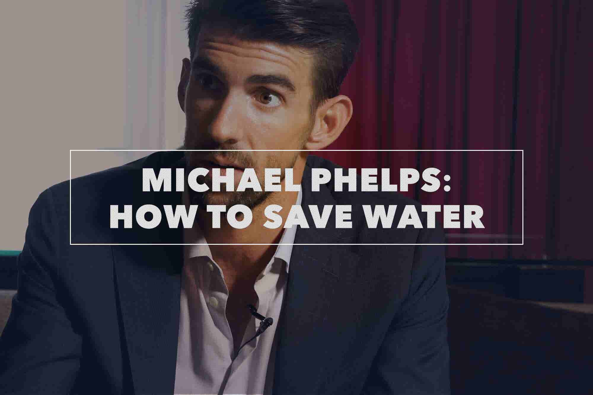 Olympic Superstar Michael Phelps Won Medals in the Water. Now He's Fighting to Save It. (Video)