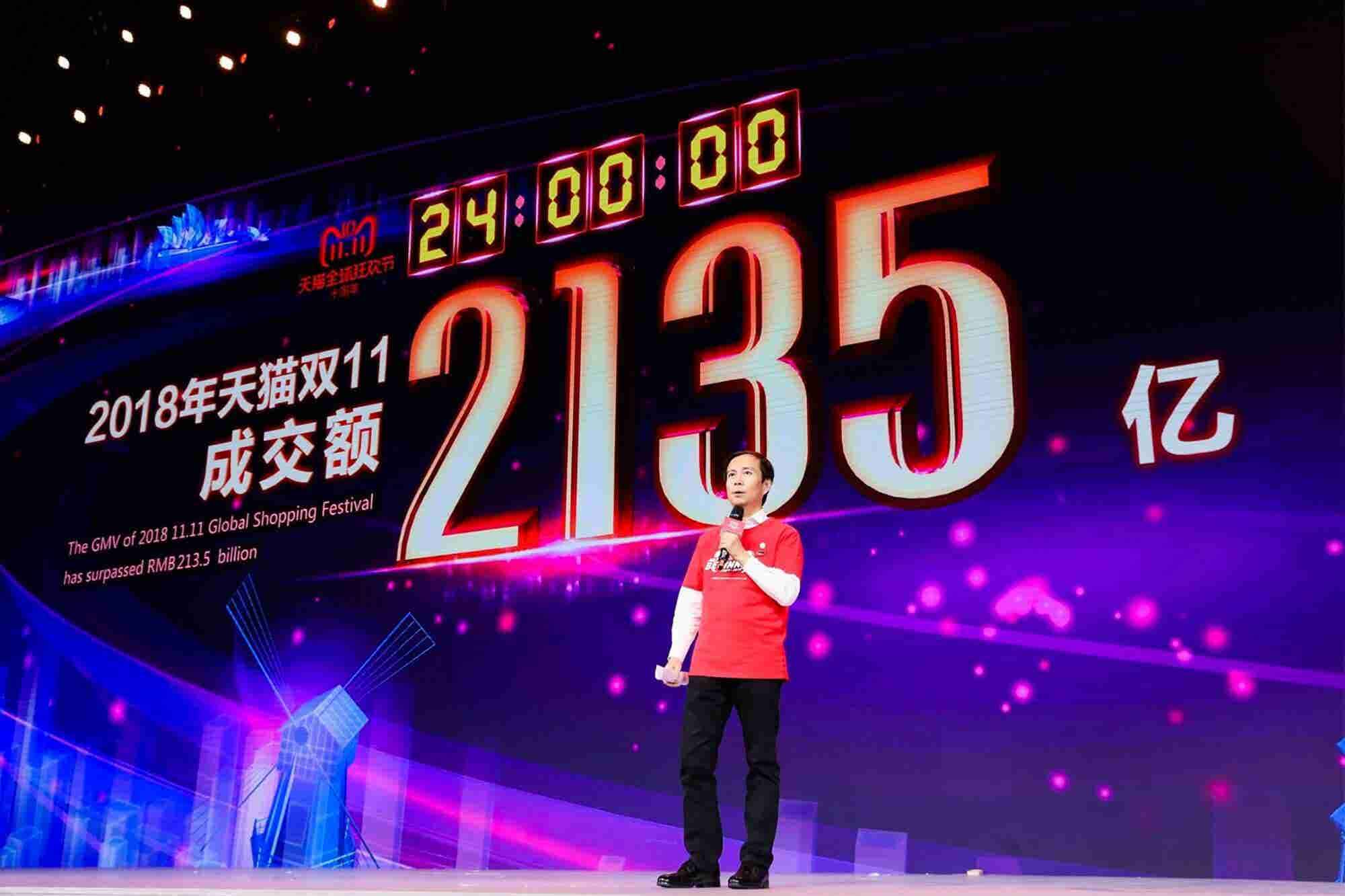 Alibaba's Singles Day Shopping Event Sales Hit $1 Billion in 85 Seconds