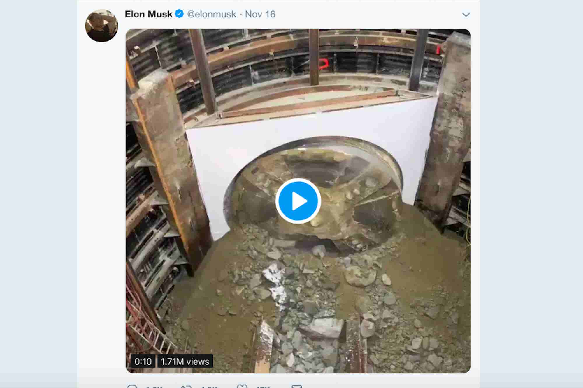 Boring Company Breaks Through to the End of Its First Test Tunnel