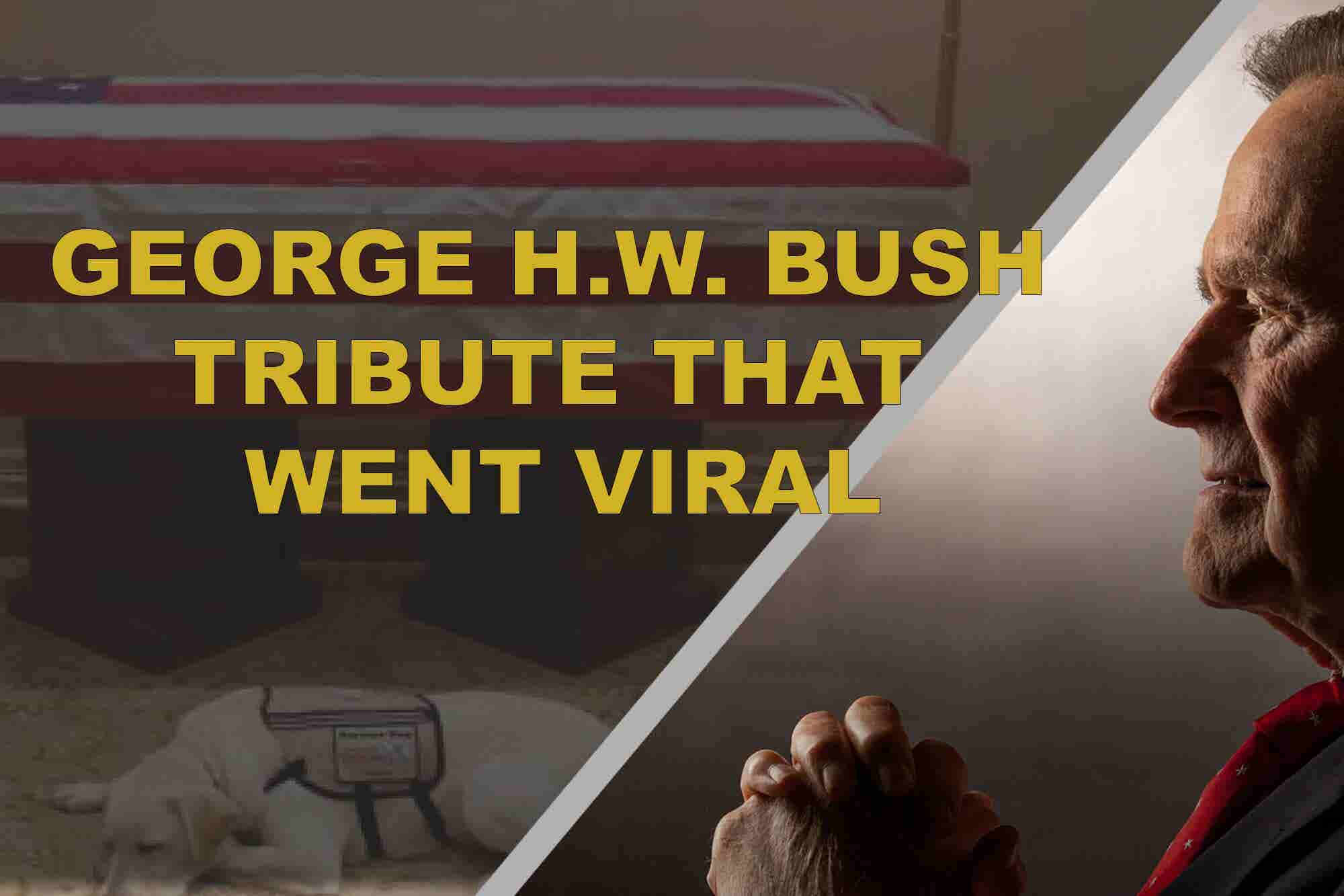 The Touching George H.W. Bush Tribute That's Gone Viral (60-Second Video)