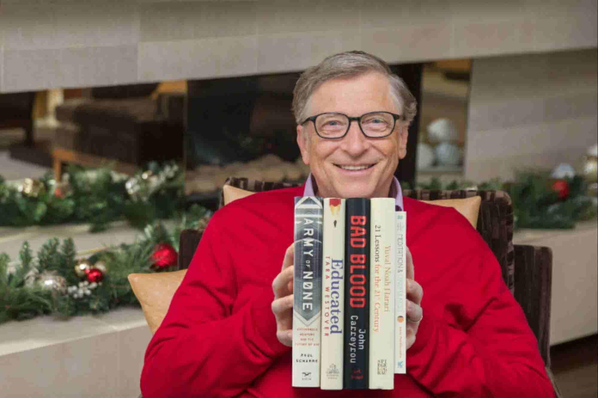 Bill Gates te recomienda los mejores 5 libros para leer y regalar este a帽o