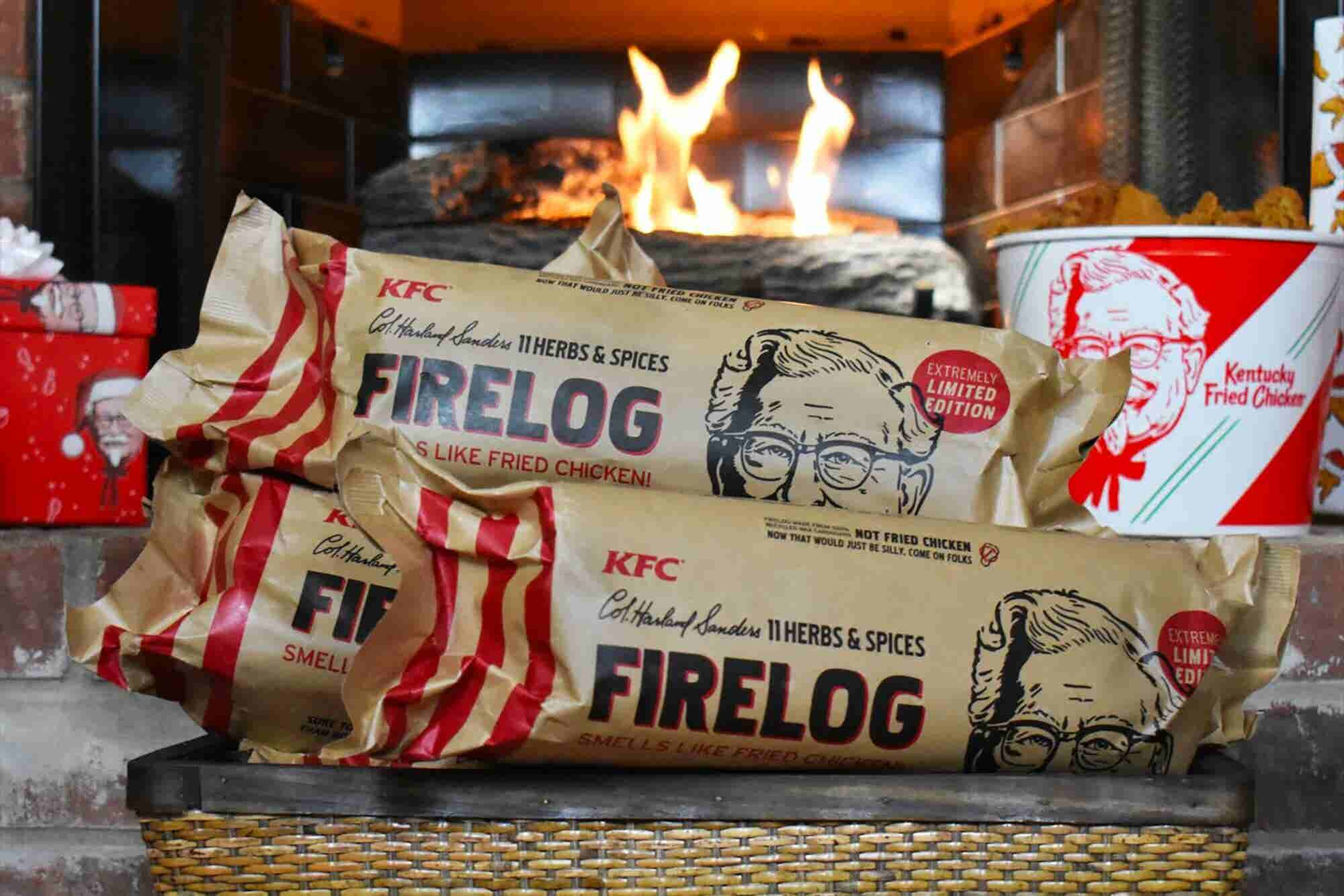 KFC Wants to Warm Hearts With Its Fried Chicken Scented Yule Log