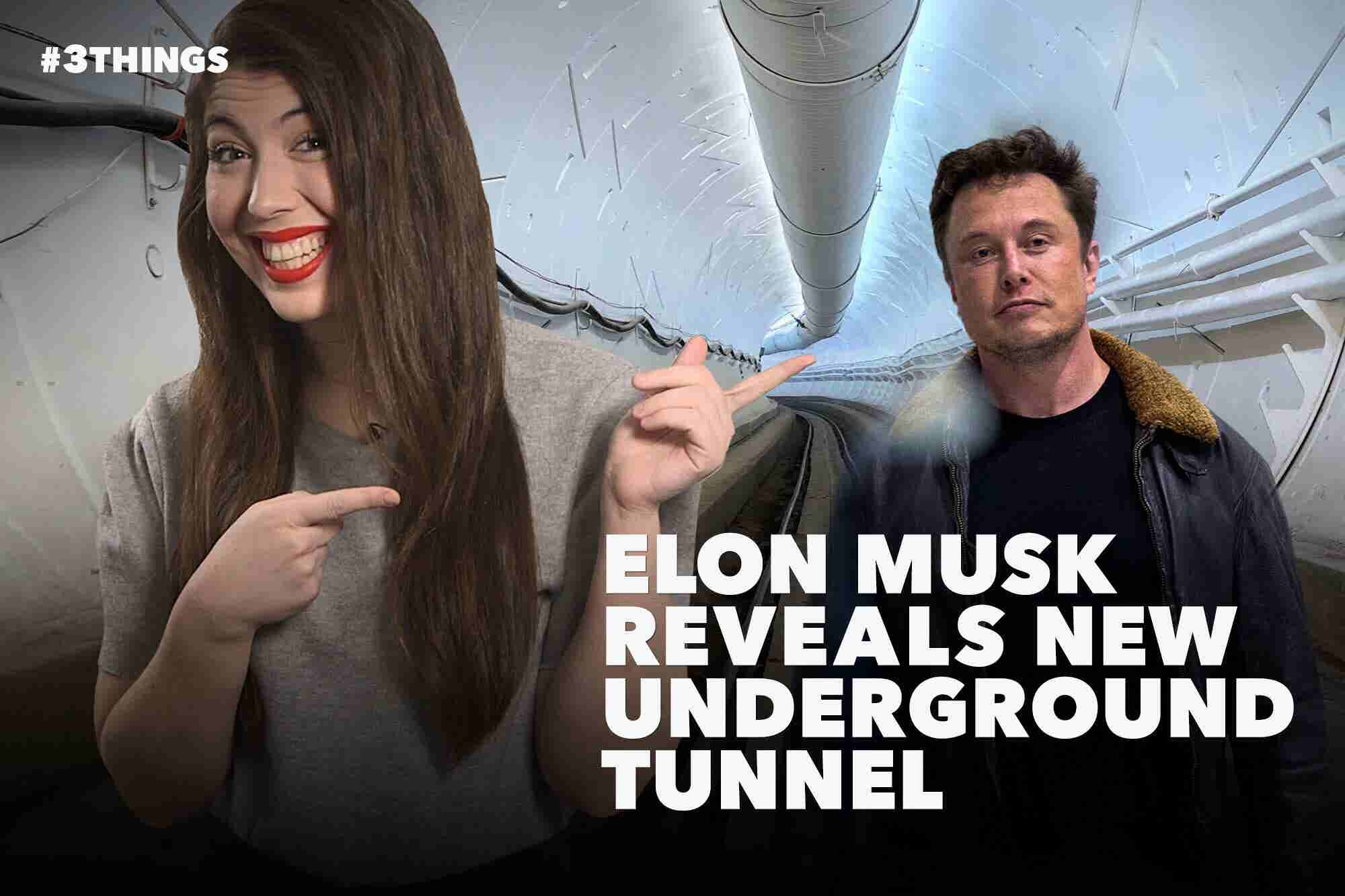 Elon Musk Reveals Tunnel, Facebook Hit With New Data Scandal and Crossword Secrets Revealed (60-Second Video)