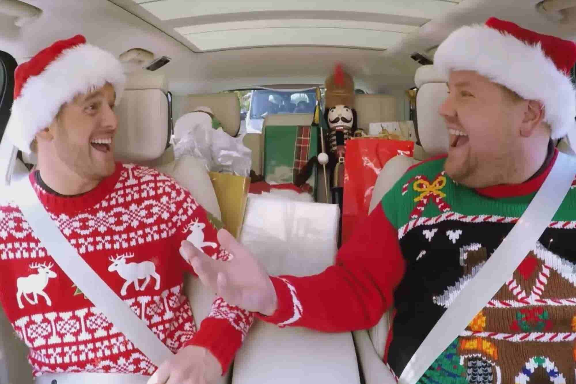 Watch James Corden Celebrate the Holiday Season with Everyone From Mig...
