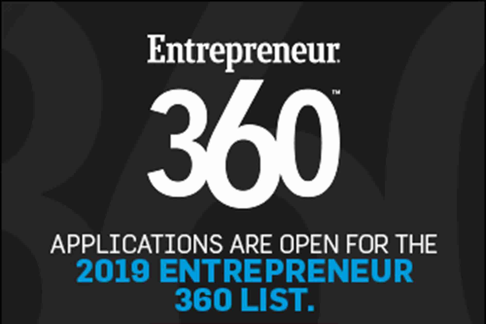 Why Should You be a Part of Entrepreneur 360 India List?
