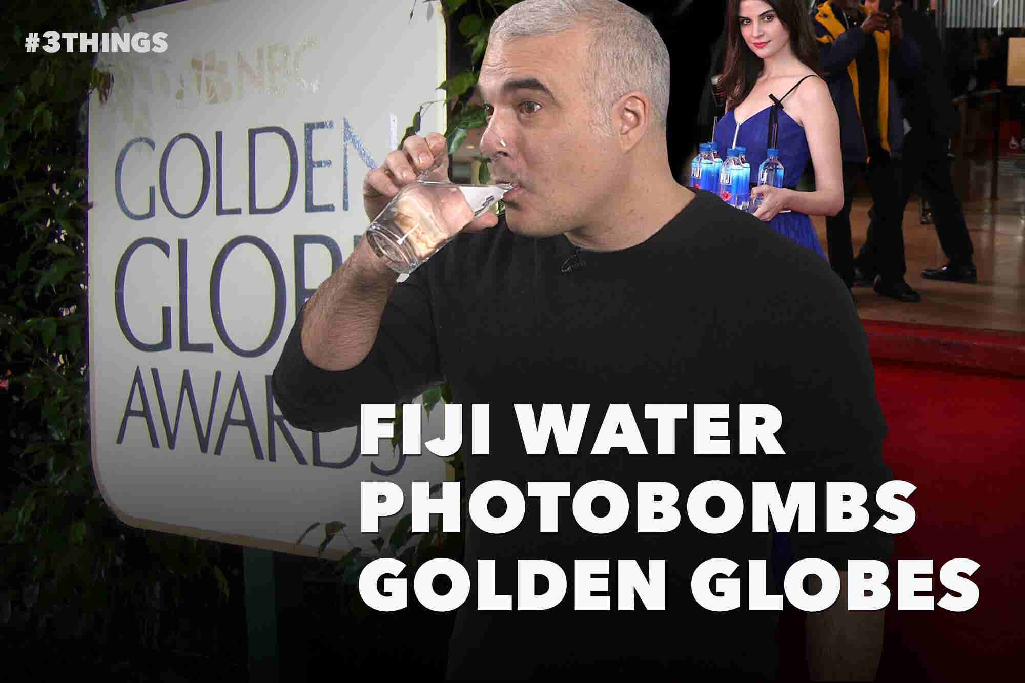 Fiji Water Photobombs Golden Globes in Spectacular Fashion (60 Second Video)