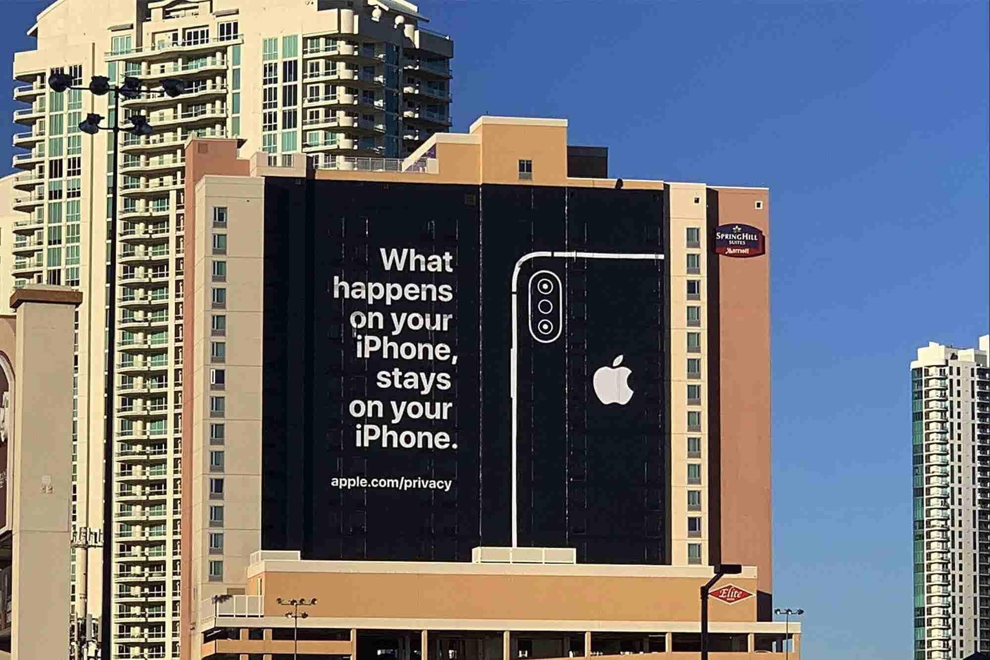 Esta fue la burla épica de privacidad de Apple hacia sus competidores