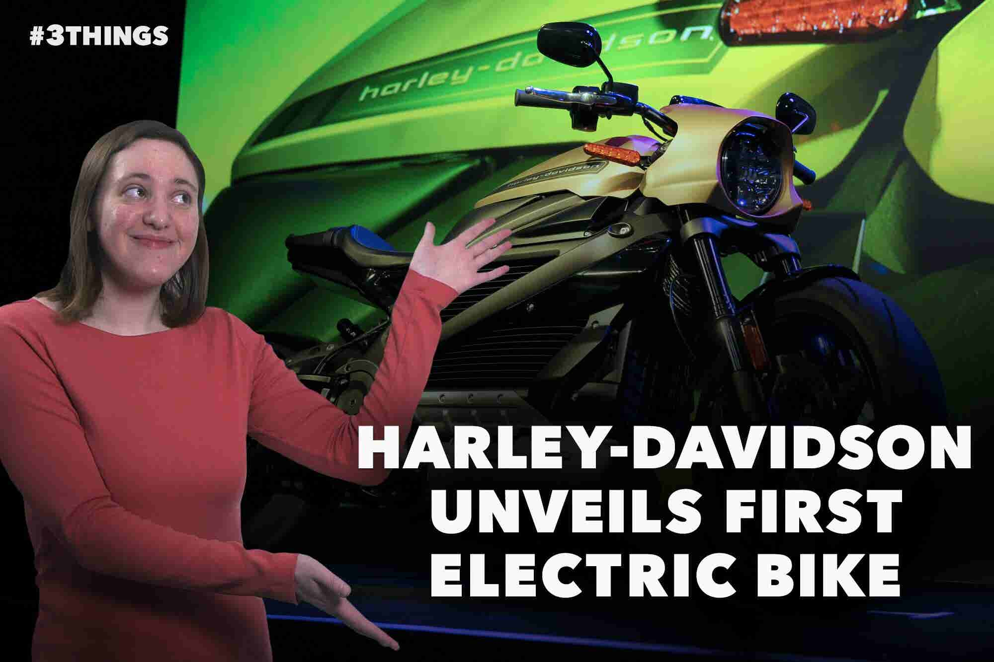 Harley-Davidson Unveils First Ever Electric Bike (60-Second Video)