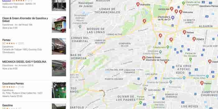 Cómo usar Google Maps para encontrar gasolineras que den servicio