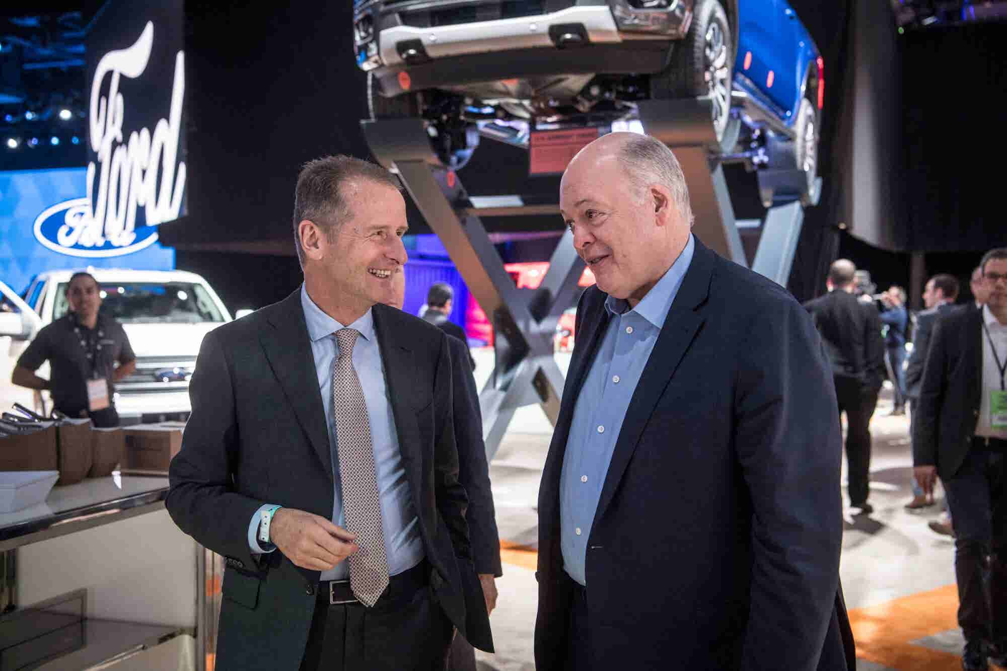 Ford Formally Announces a Partnership With Volkswagen, But Its Stock P...