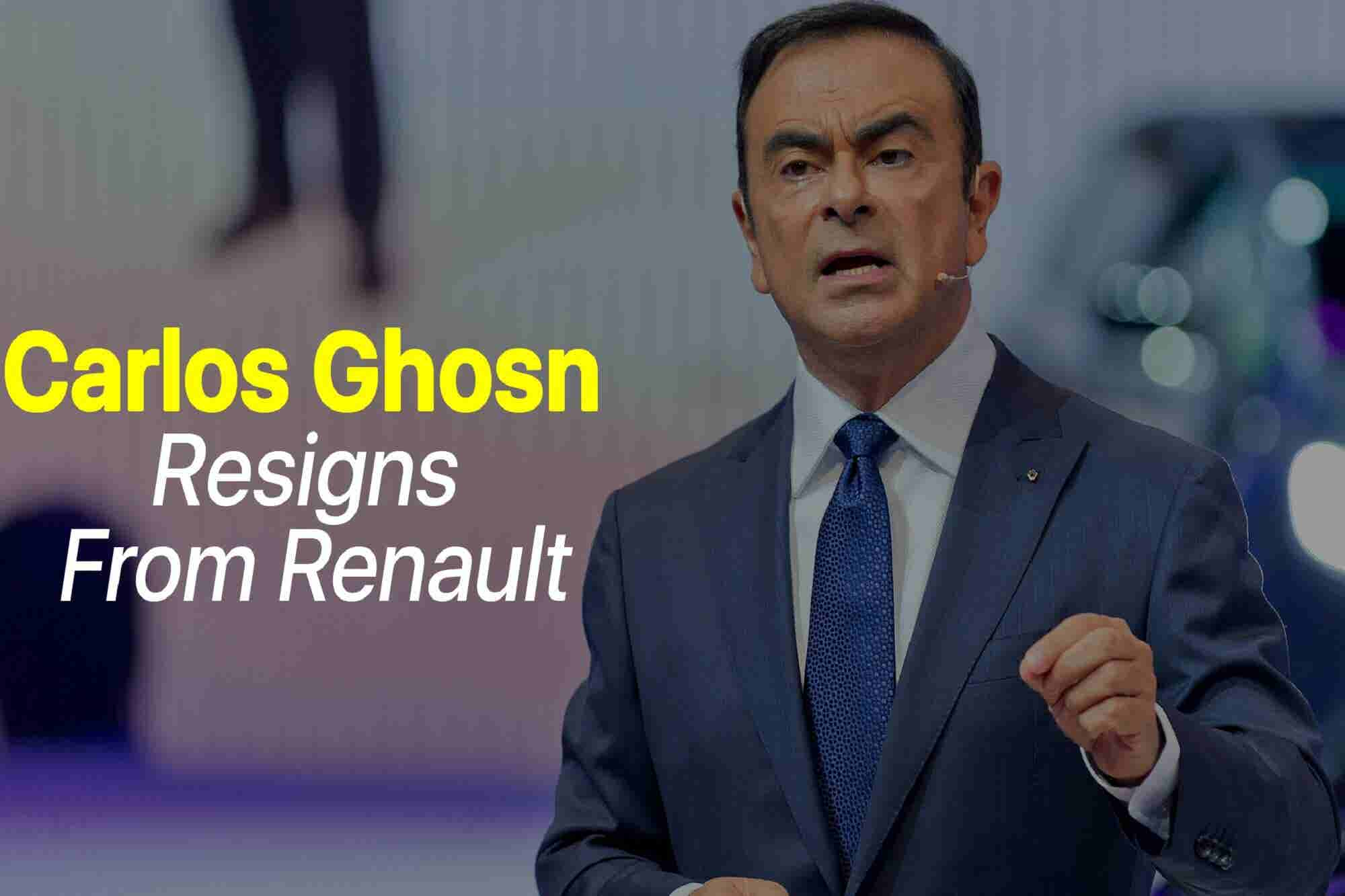 Friday Flashback: Carlos Ghosn Resigns From Renault Amid Misconduct Ch...