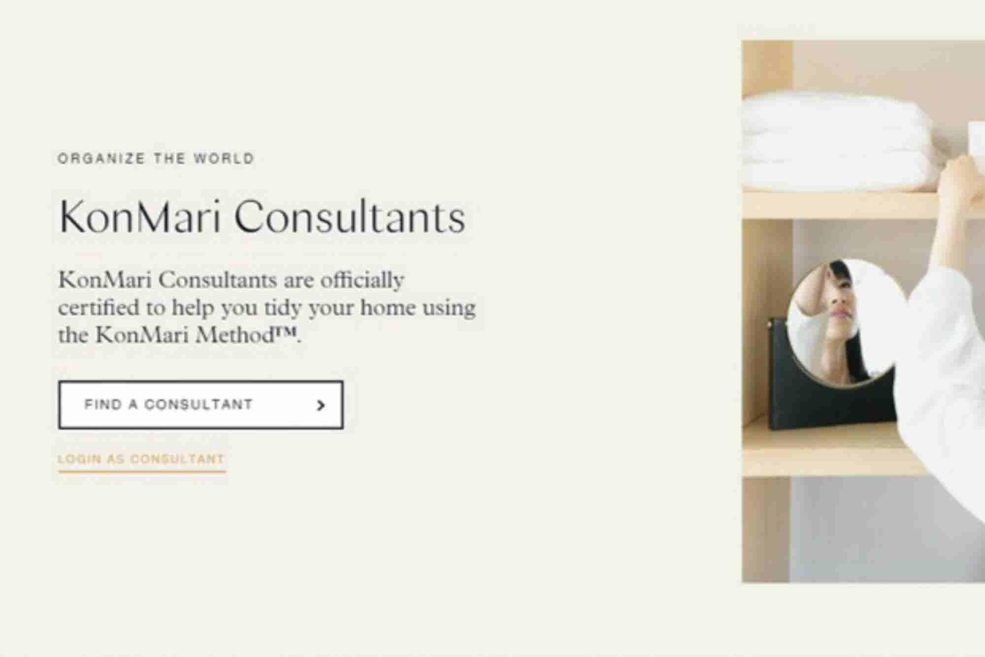 Marie Kondo podría organizar tu casa por ti (pero no sale nada barato)