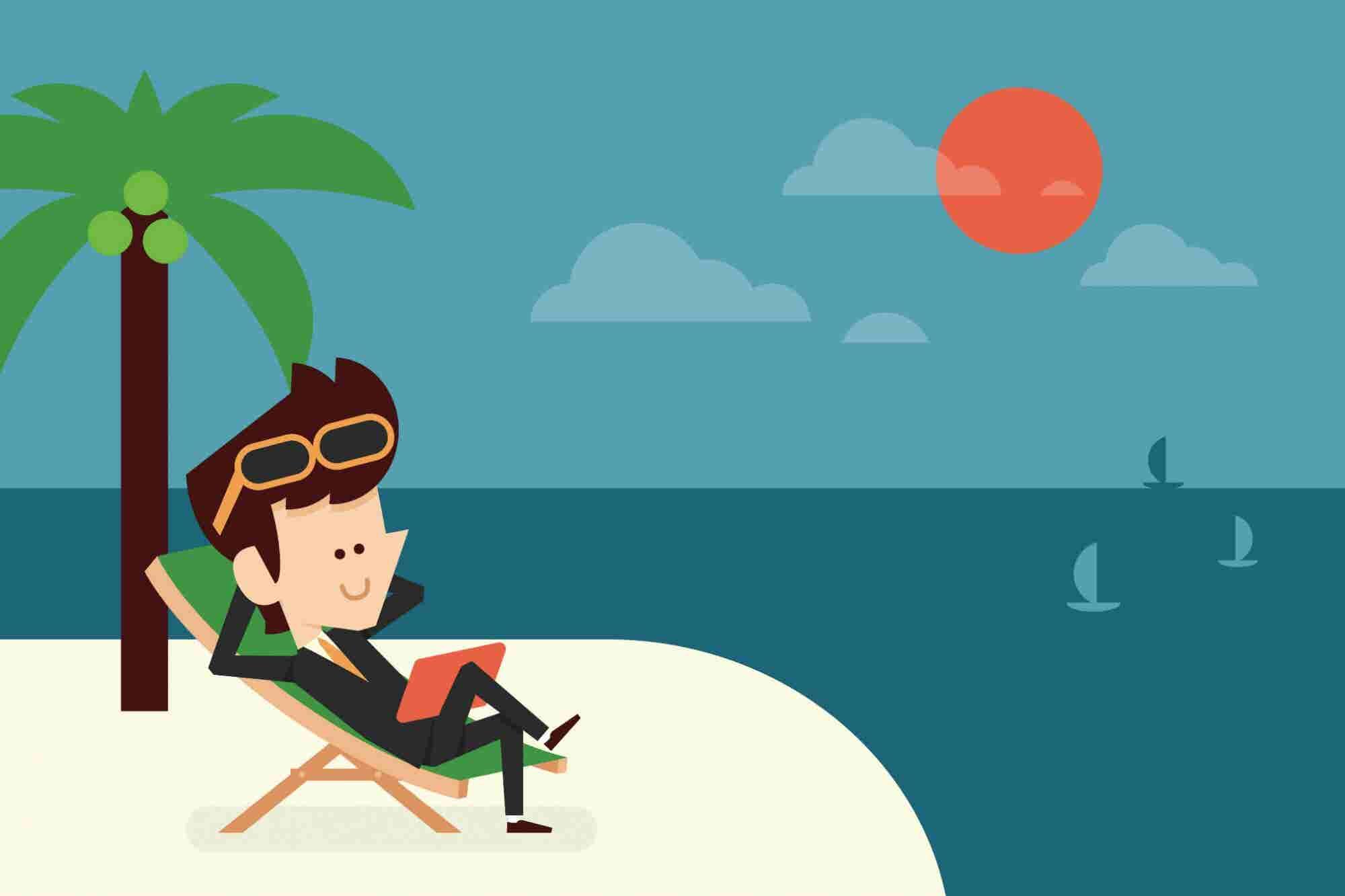 Infografía: 6 tips para desconectarte del trabajo en vacaciones (o puentes)