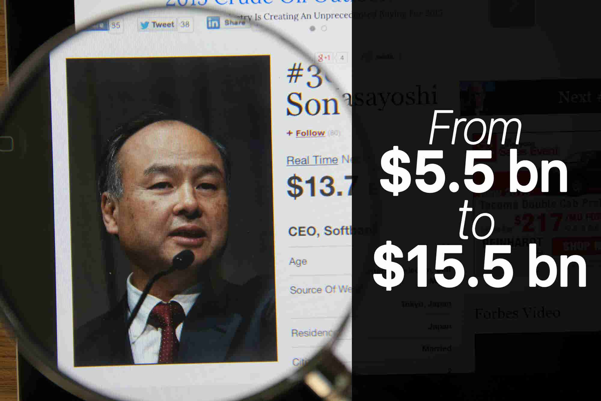 Friday Flashback: How Softbank's Founder Turned $5.5 billion to $15.5 billion Within a Day