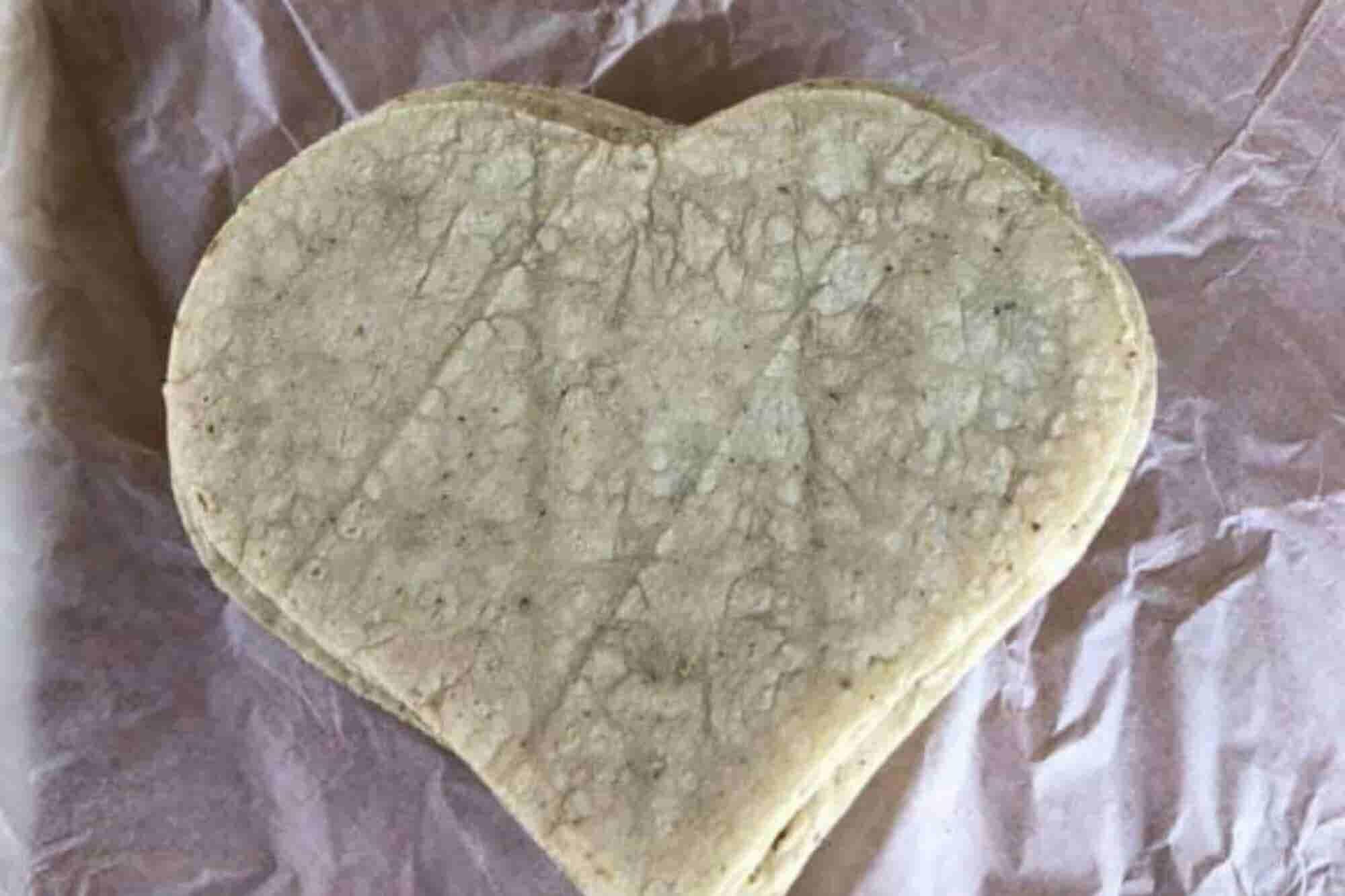 Tortillas de corazón por San Valentín se vuelven virales
