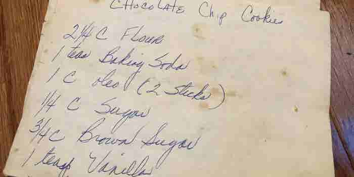 An Old, Handwritten Recipe Keeps This Chef Inspired and Focused