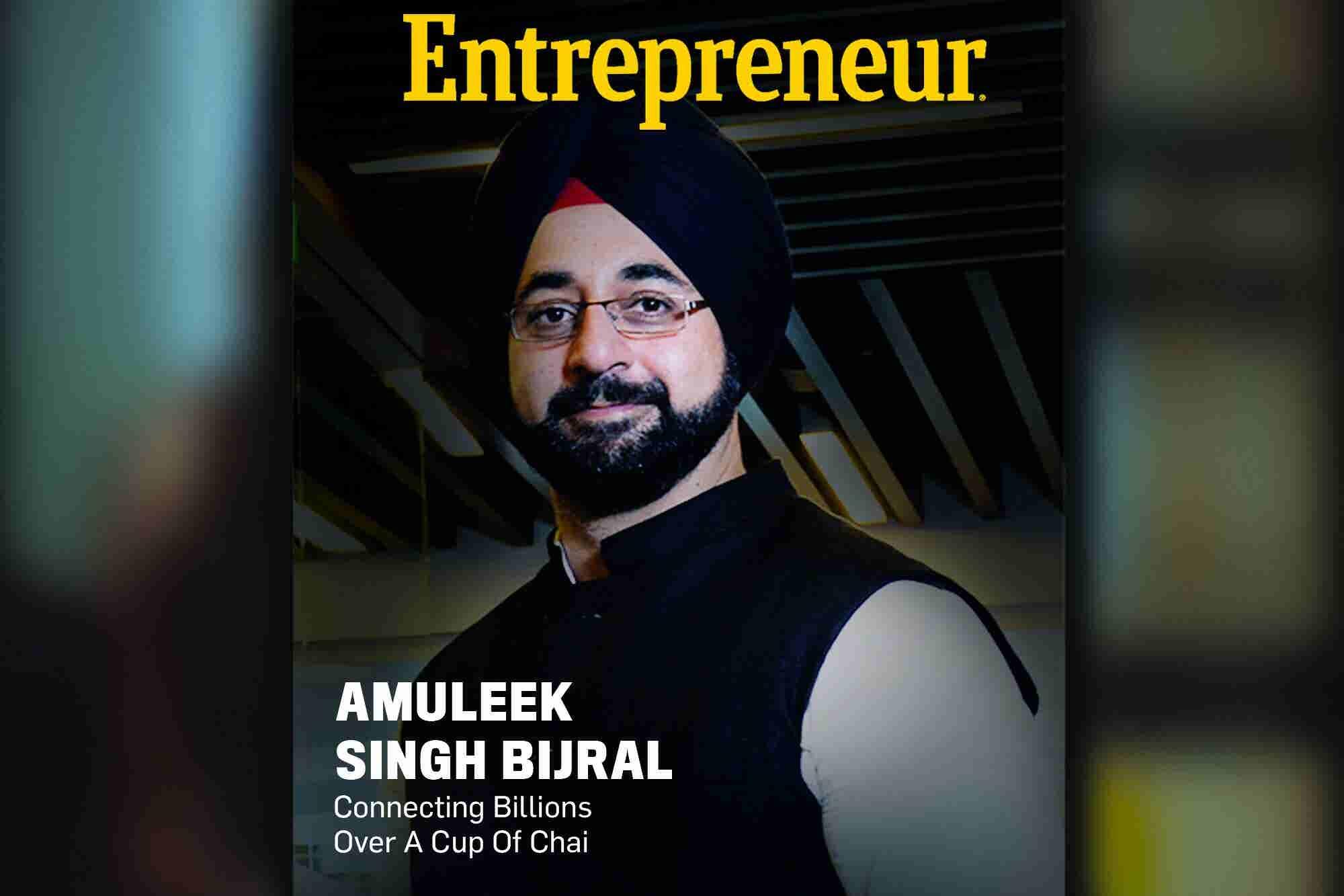 Entrepreneur India's Second Digital Cover Presents India's Chai Grand Master Amuleek Singh Bijral