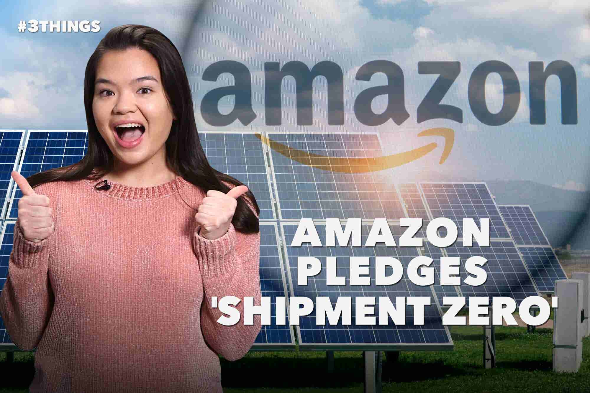Amazon Pledges 'Shipment Zero,' Time's Up CEO Resigns, and Oscars Swag Bags Include THC (60-Second Video)