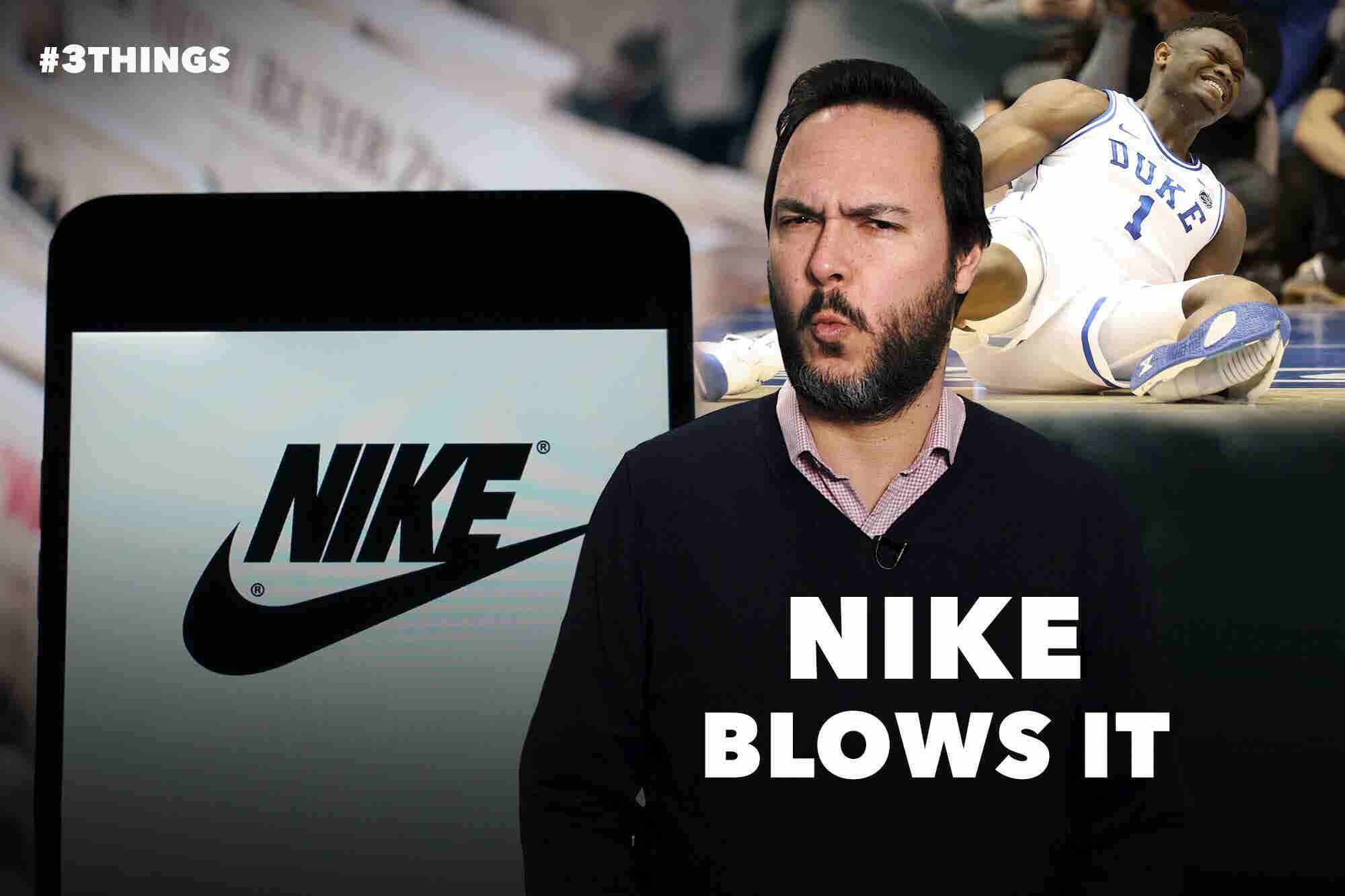Nike High-Tops Split Open Mid-Game, Injuring Duke Basketball Superstar Zion Williamson (60-Second Video)