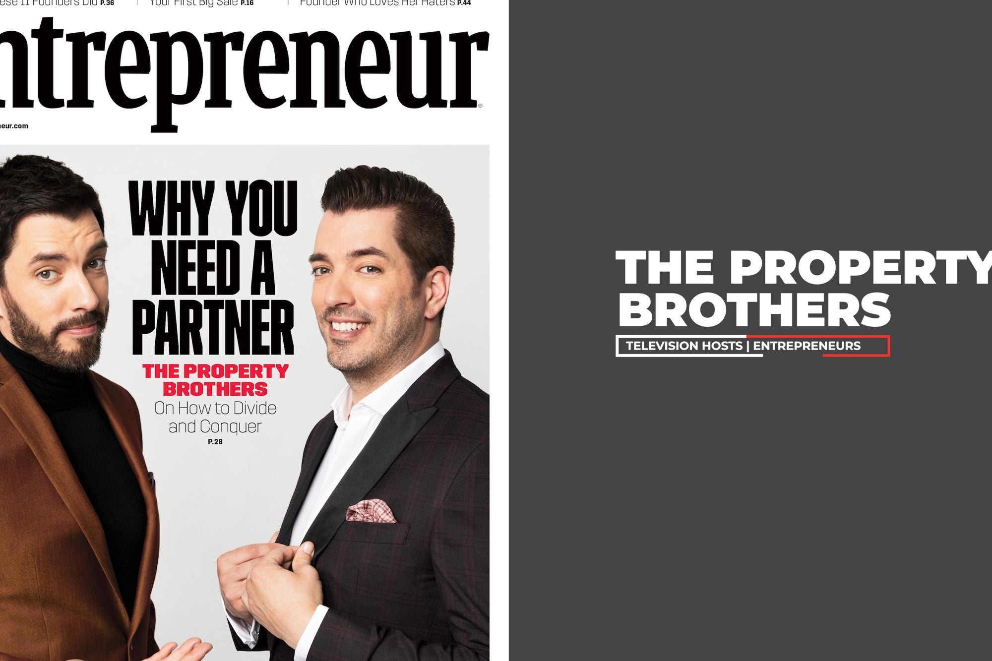 The Value Of Failing >> The Property Brothers Talk Entrepreneurship Risk Taking And The