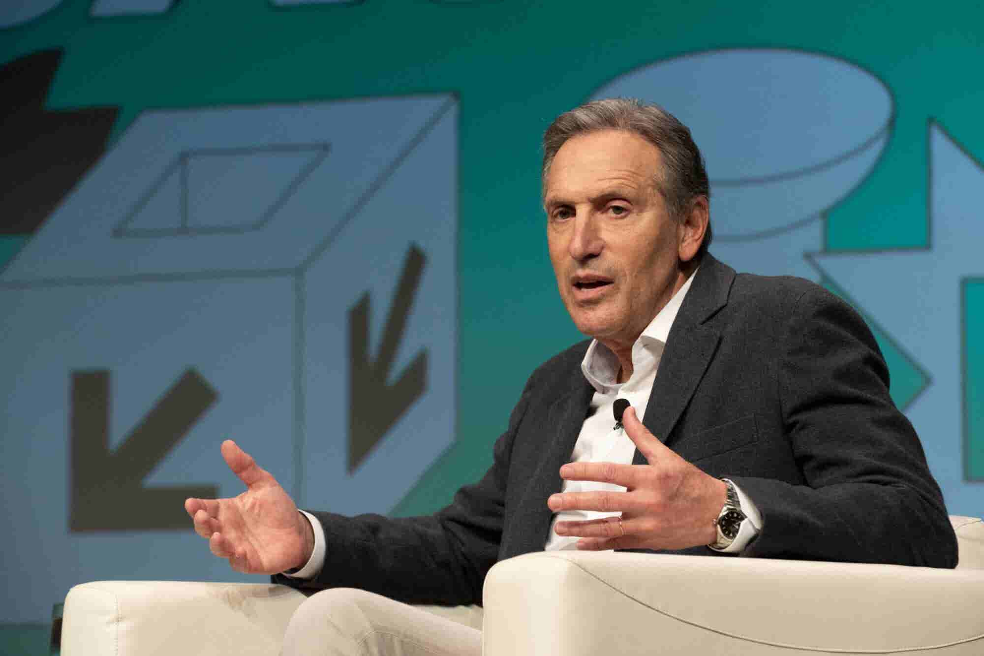 'Success Is Not an Entitlement; You Have to Earn It Every Day,' Howard Schultz Says