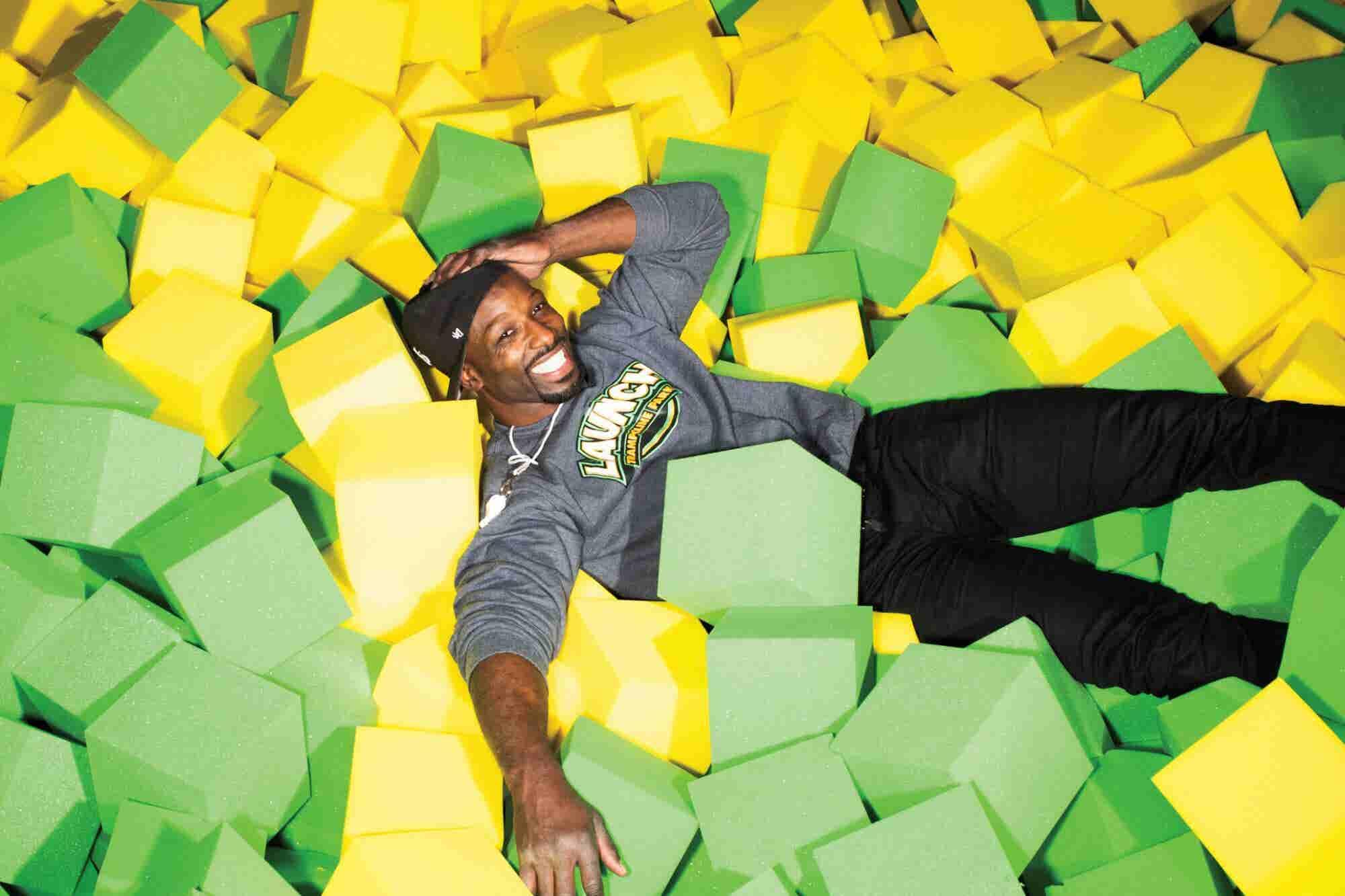 Former NFL Star Jason Avant Has a New Career -- In Trampoline Parks