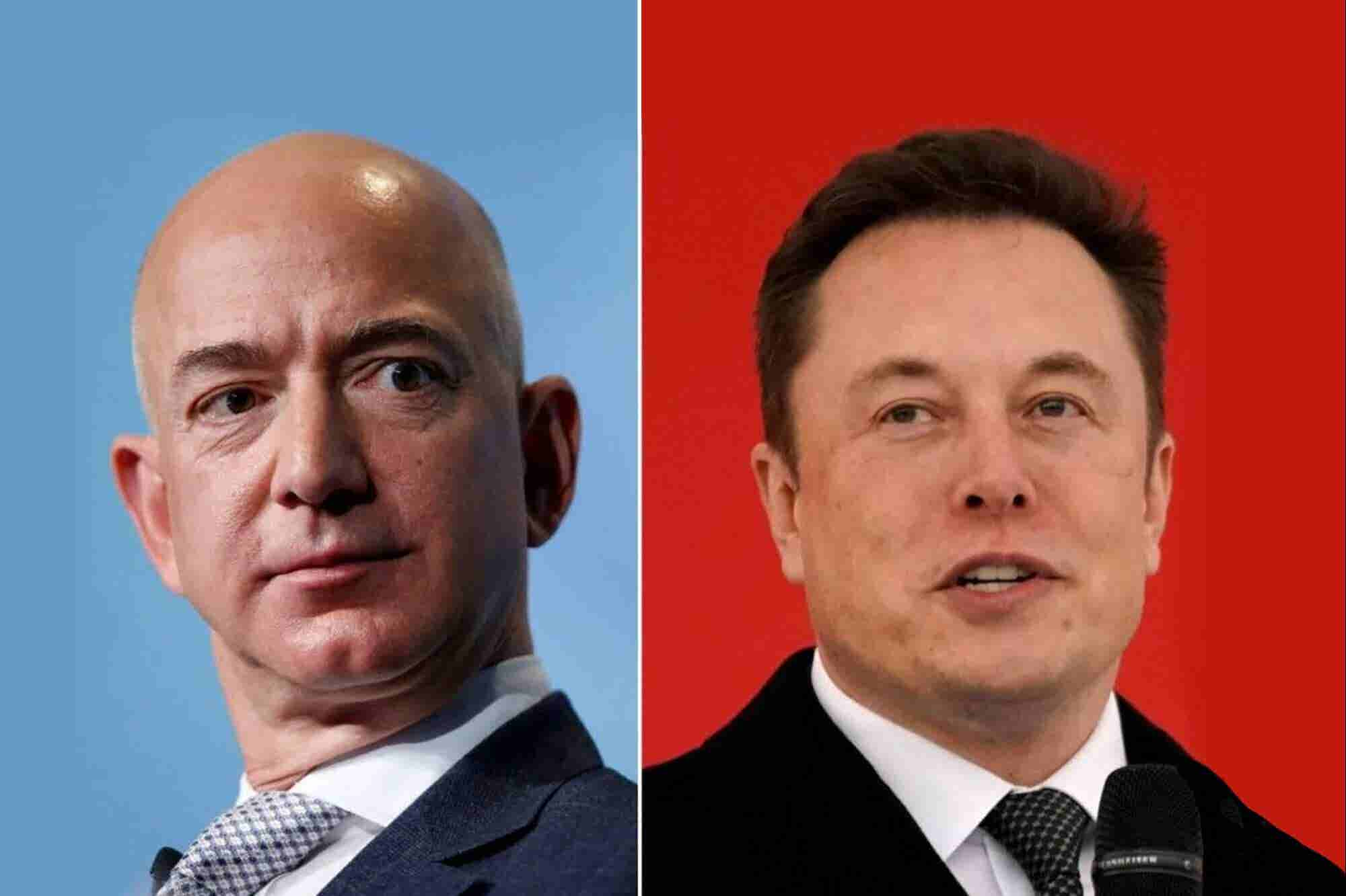 Elon Musk se burló de Jeff Bezos en Twitter por este plan de Amazon