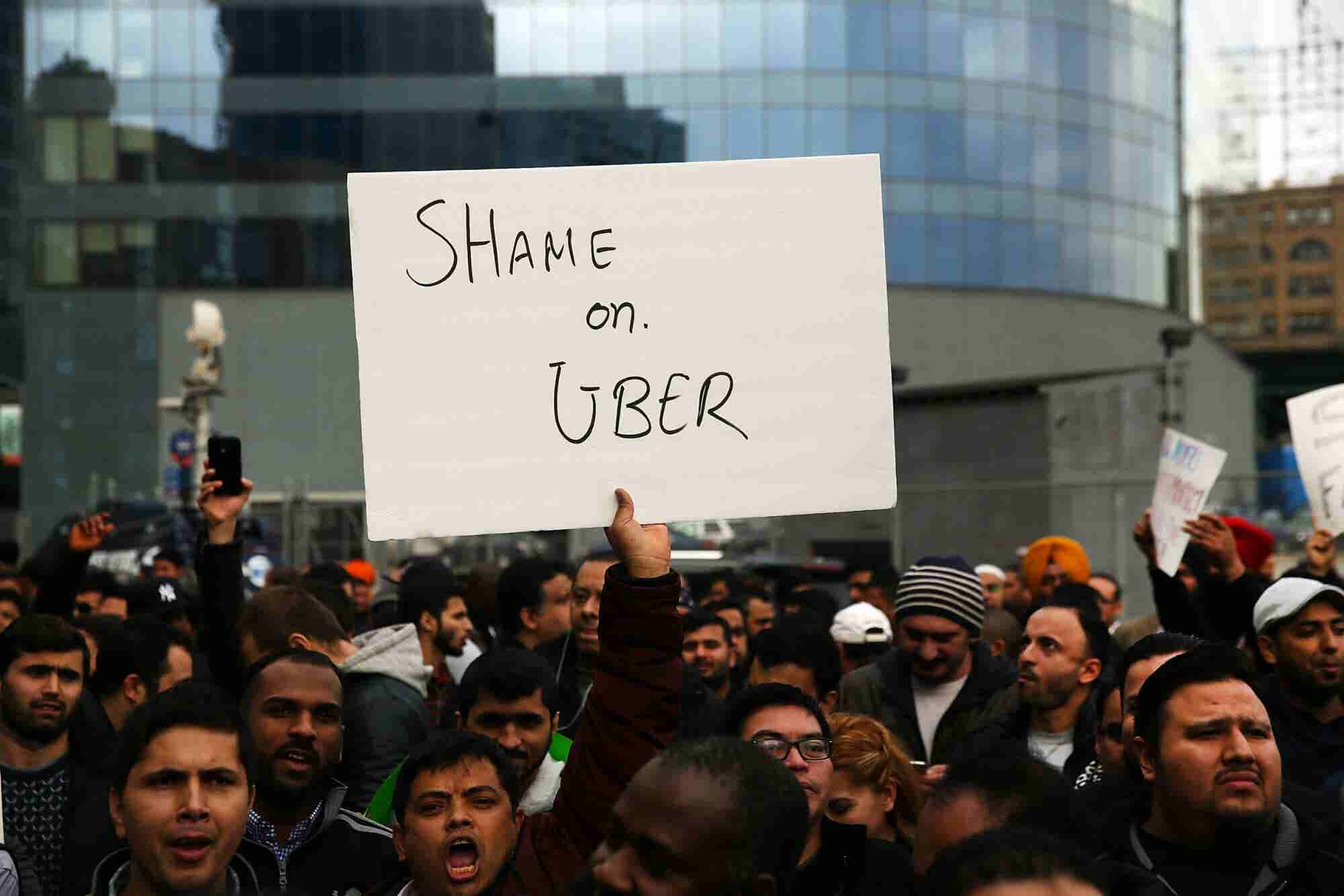 Uber Drivers Are Sleeping in Their Cars to Make Enough Money. Now, They're Going on Strike.