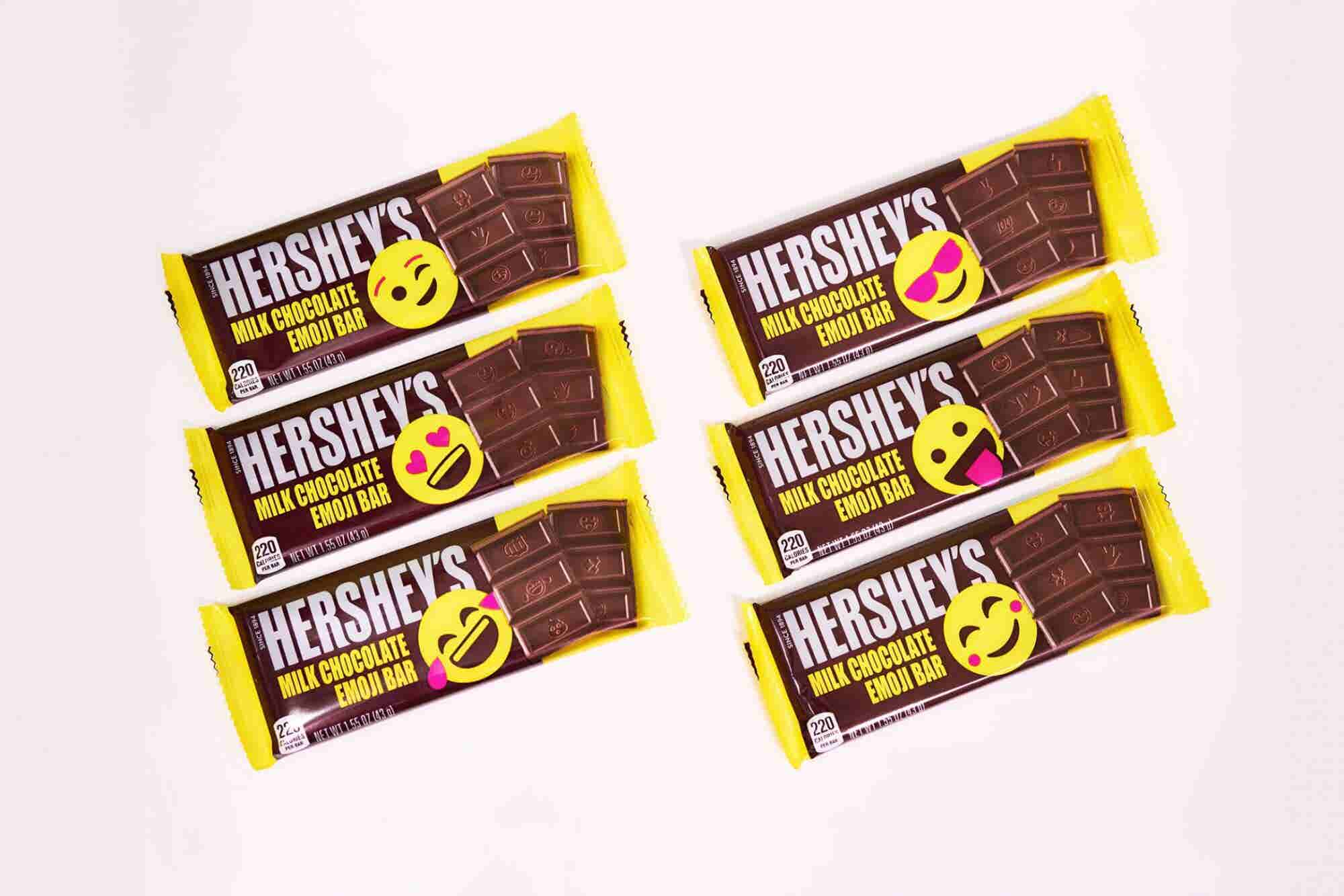 Hershey's Is Changing the Design of Its Iconic Chocolate Bars for the First Time Ever by Adding Emoji