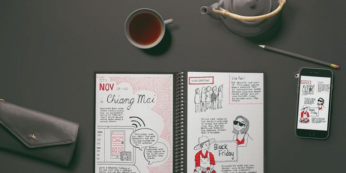 This Futuristic Notebook Saves Your Writing to the Cloud