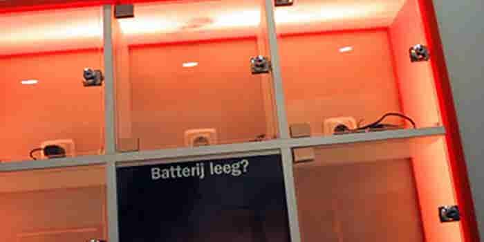 Lockers para cargar celulares