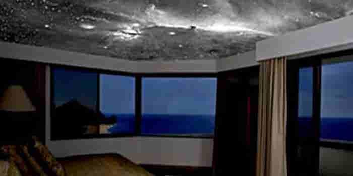 Decoración de cielo nocturno en techos