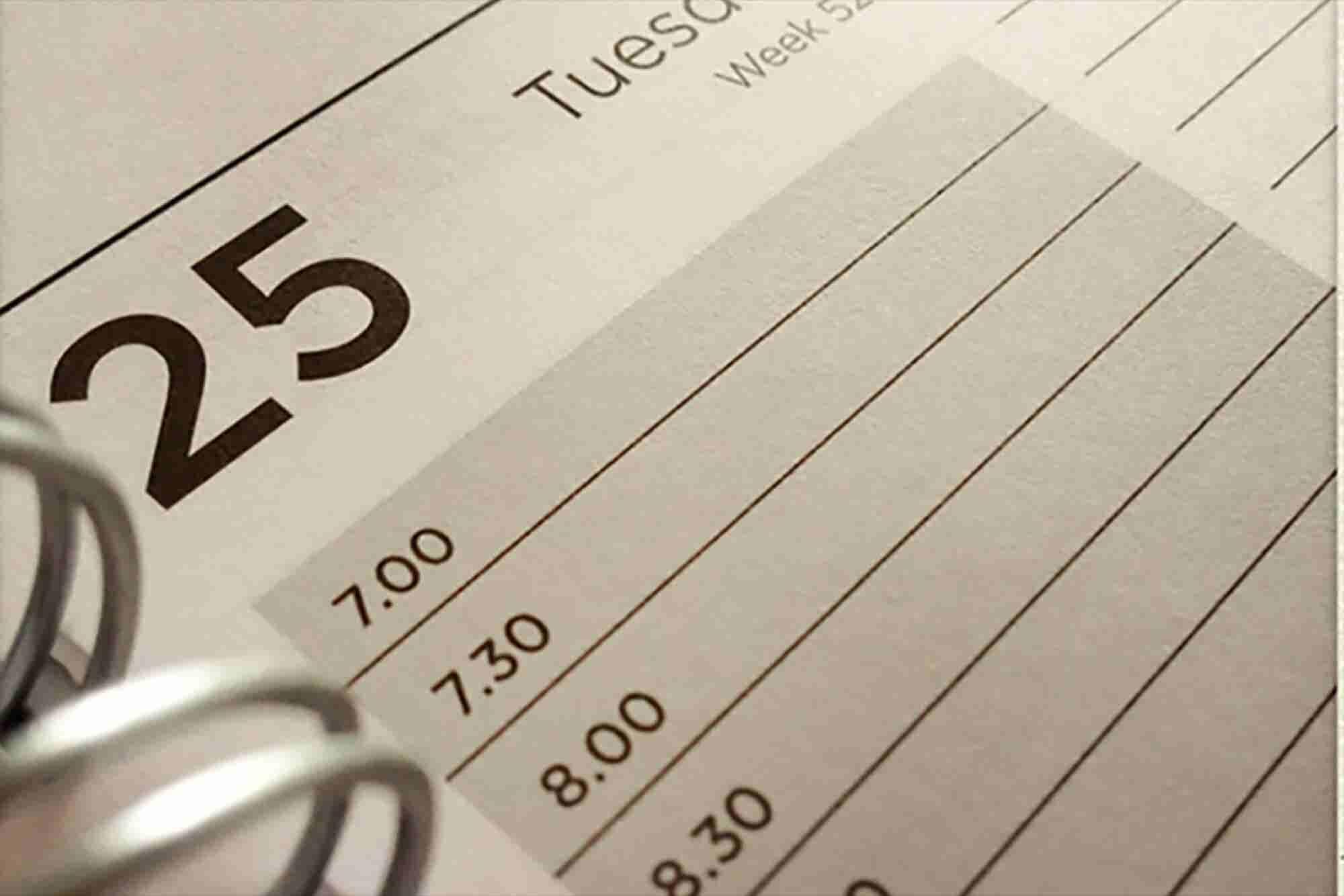 7 tips para saber manejar tu horario