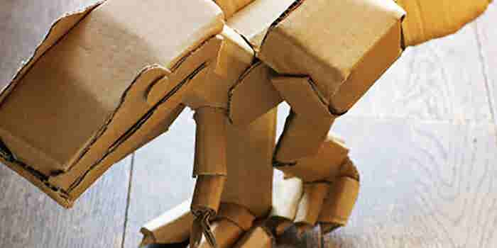 Juguetes armables de cartón